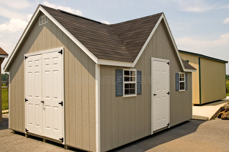 Download New Utility Storage Shed stock image. Image of window - 1178409