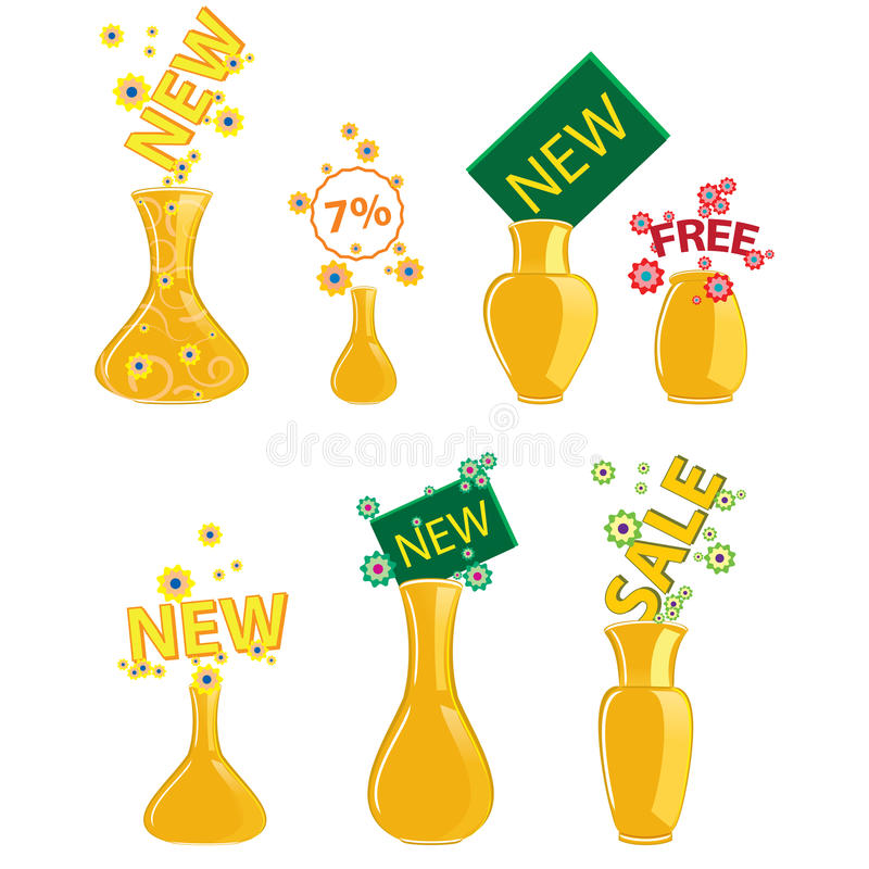 Download New vase icon stock vector. Illustration of color, handle - 22934422