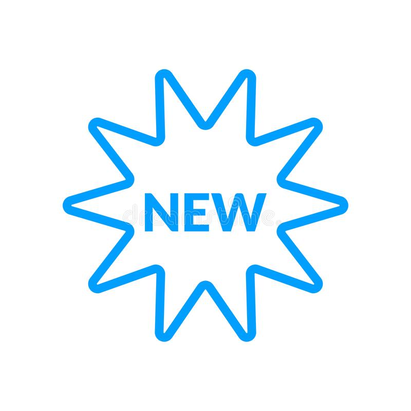 New vector icon. New sticker editable vector icon for website and mobile apps stock illustration