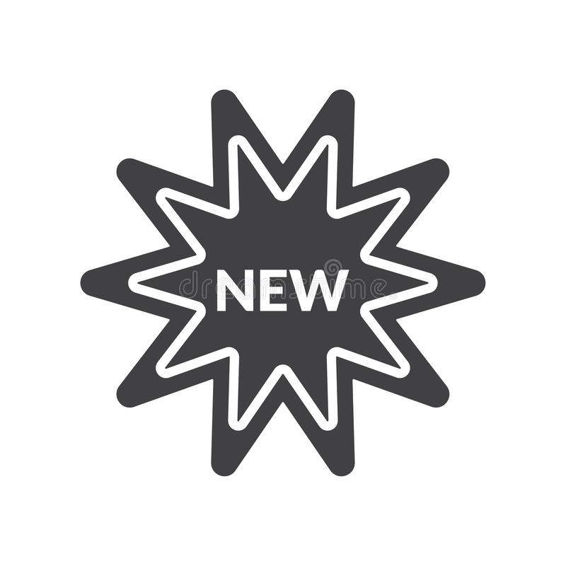 New vector icon. New sticker editable vector icon for website and mobile apps vector illustration