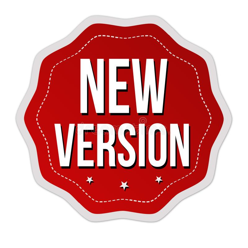 New version label or sticker. On white background, vector illustration royalty free illustration