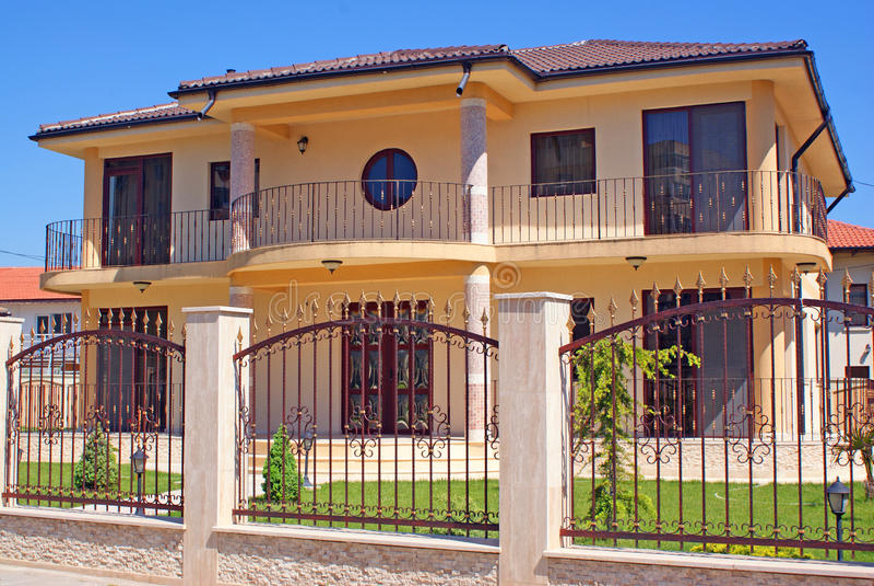 New villa stock photography