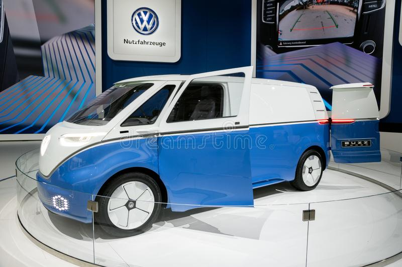 New Volkswagen I.D. Buzz Cargo electric delivery van royalty free stock image