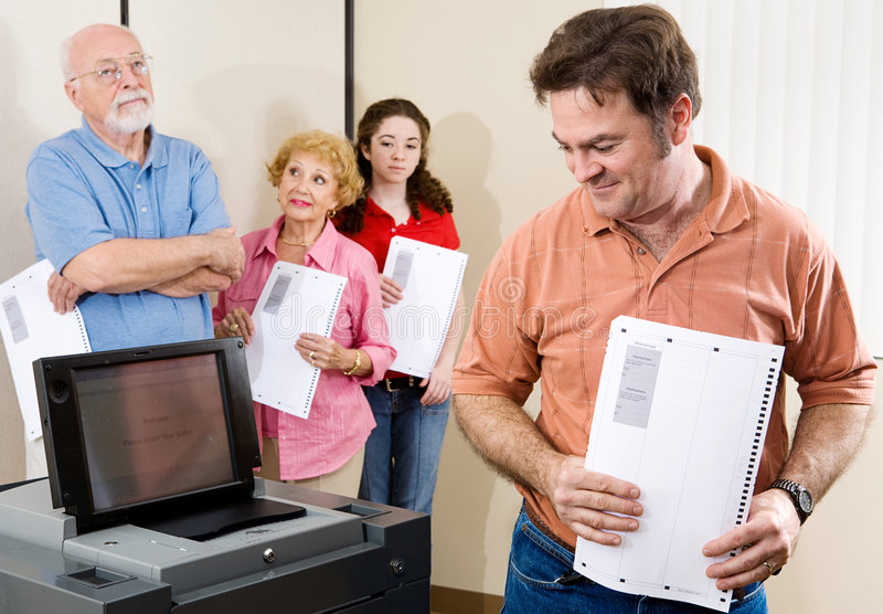 Download New Voting Machine stock photo. Image of privacy, current - 4562854