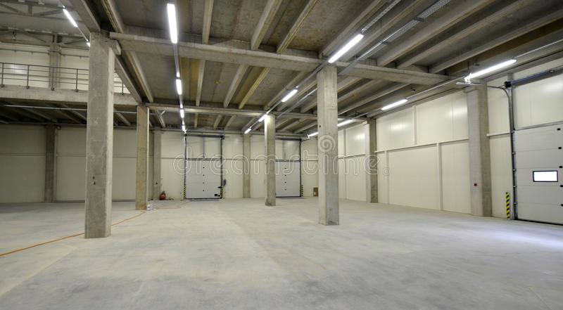 New Warehouse. Picture of a New Warehouse. Industrial theme stock image
