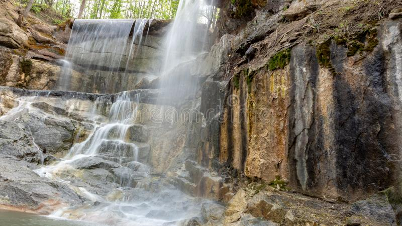 New waterfall in Sophia old dendropark, in the city of Uman, Ukraine. New waterfall in Sophia dendropark, in the city of Uman, Ukraine stock photo
