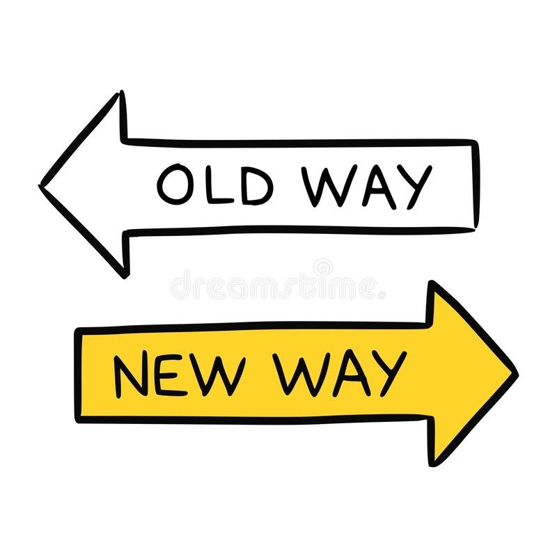 New way concept stock illustration