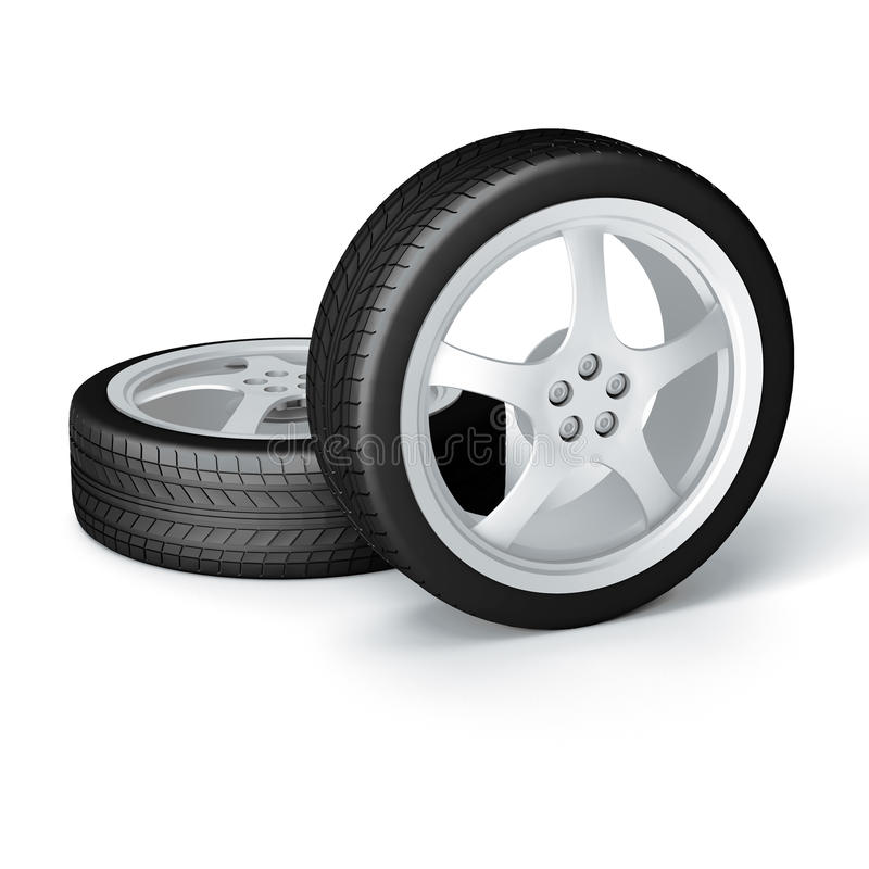 Download New wheels stock illustration. Image of dimensional, rubber - 15526231