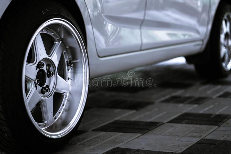 New wheels royalty free stock photo