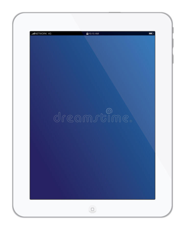New white Apple iPad 3 tablet royalty free illustration