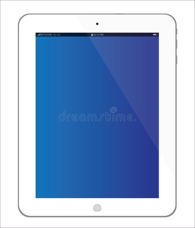 New white Apple iPad 3 tablet vector illustration