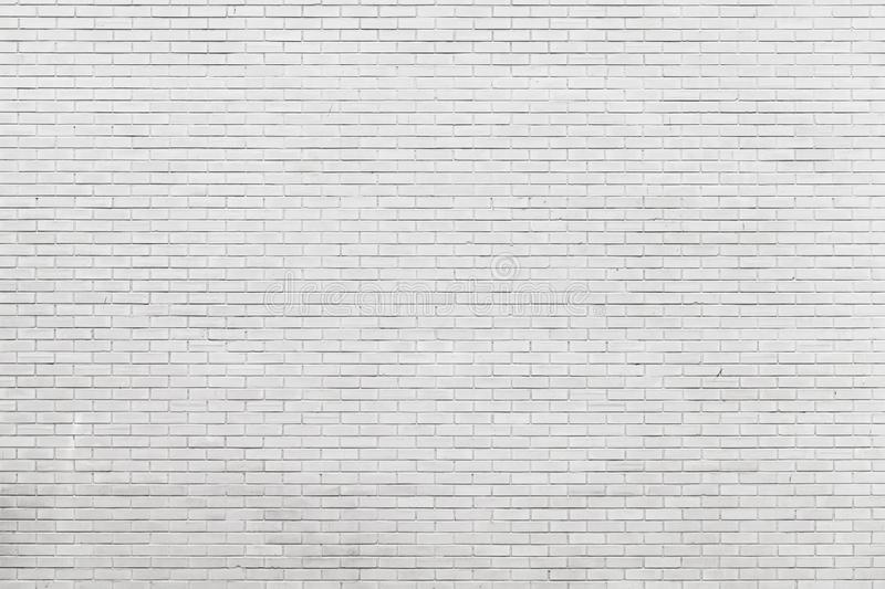 New white brick wall, frontal view stock image