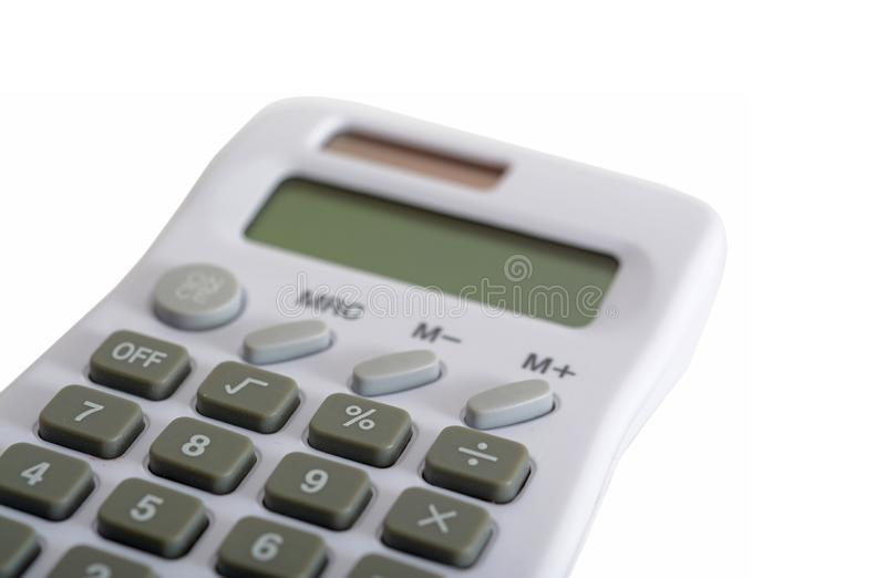 White calculator. A new White calculator isolated on white stock images