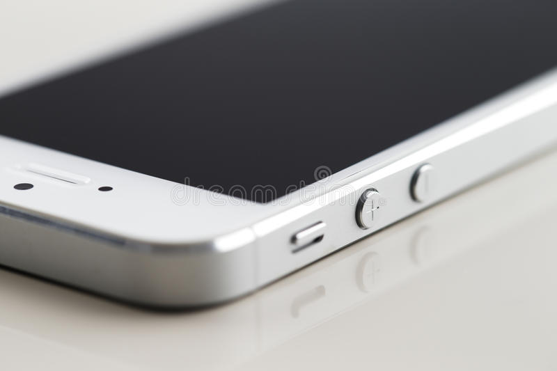 Download A New White Smartphone On A White Reflective Background Stock Illustration - Image: 33529087