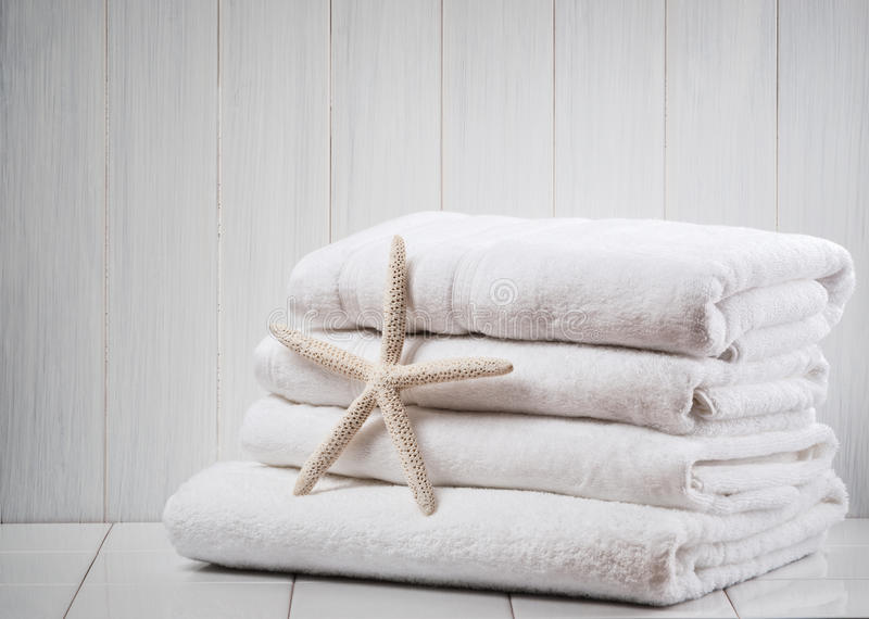 New White Towels stock image