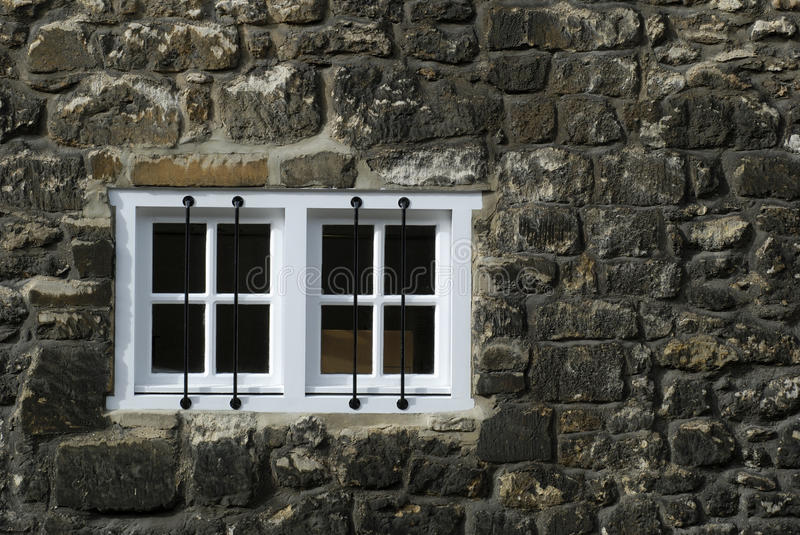 New windows in old wall stock photos