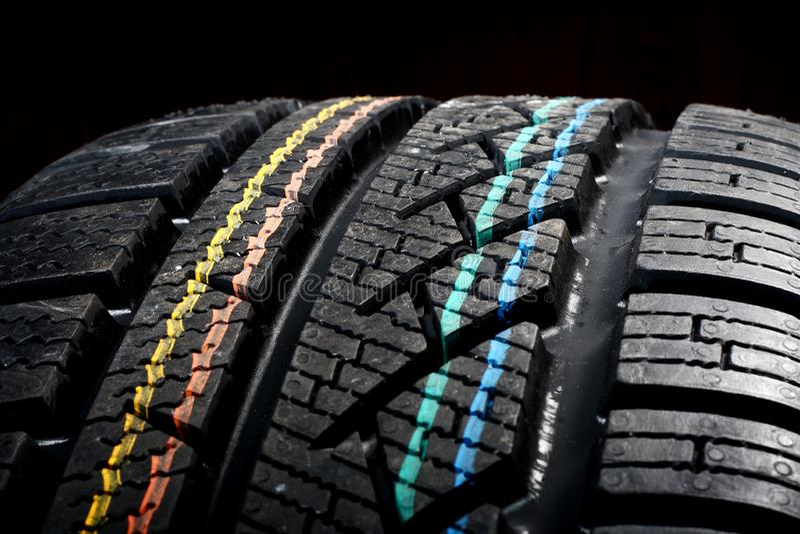 New winter tire royalty free stock photos