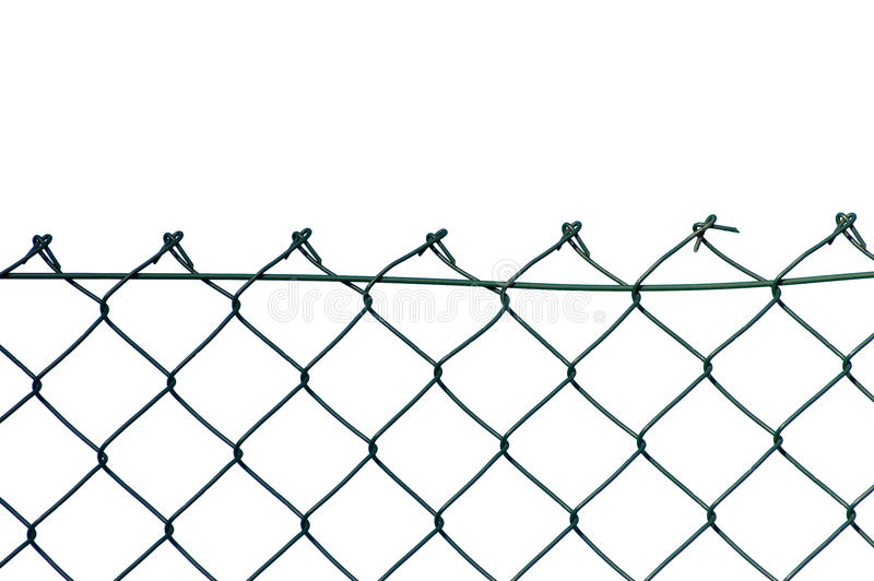 New wire security fence isolated. New wire security fence, isolated stock photo