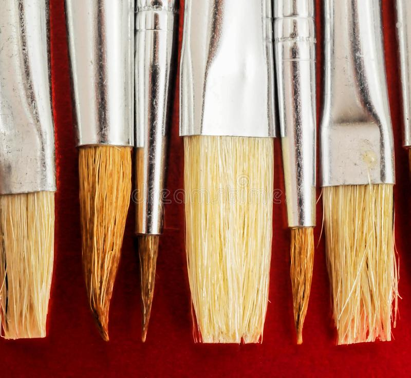 New Wooden Different Paintbrush Texture stock illustration