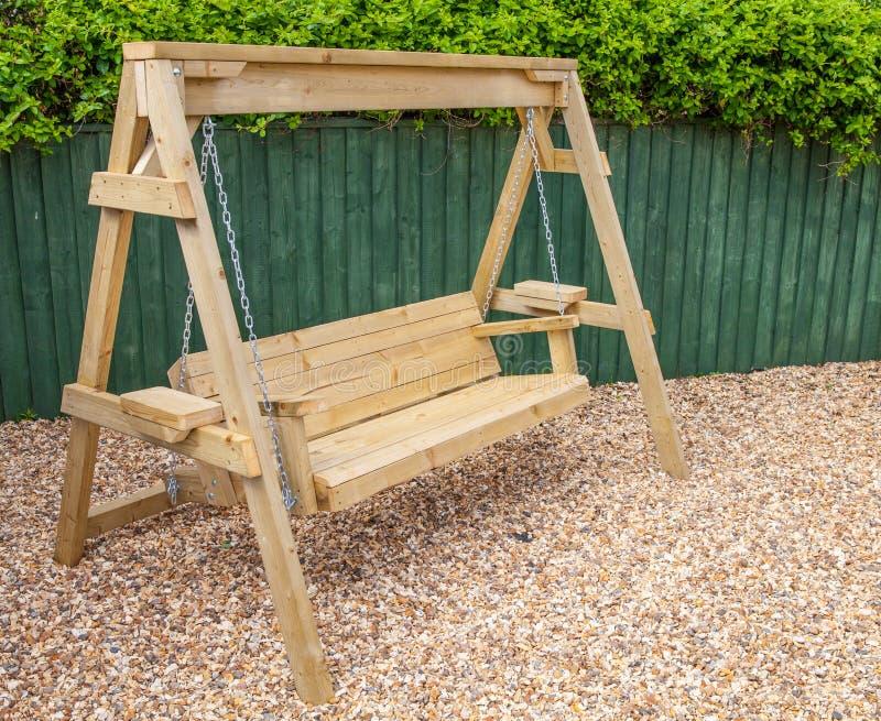 Download New Wooden Garden Swing Bench Stock Photo   Image Of Foot, Swing:  91463810