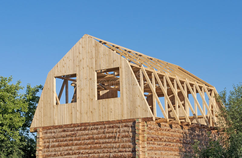 Download New Wooden House Construction Stock Image - Image: 24186457