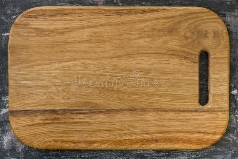 Download New Wooden Oak Cutting Board Rustic Black Background For The Menu