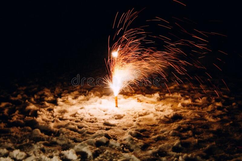New Year's Fireworks royalty free stock photo