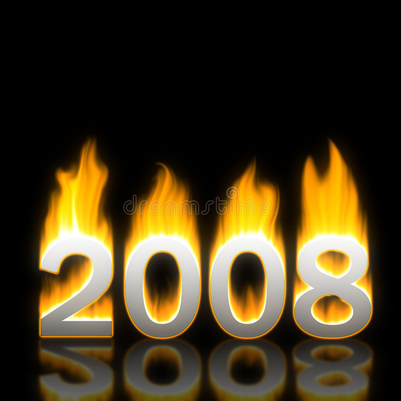 New Year 2008 vector illustration