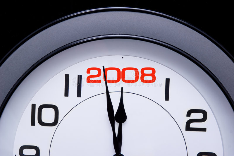 New Year 2008 is here stock images