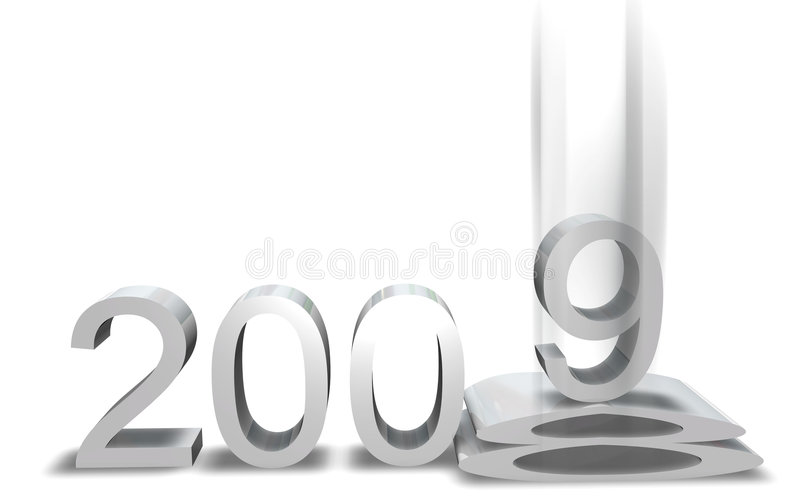 Download New Year 2009 stock illustration. Image of render, background - 7167829