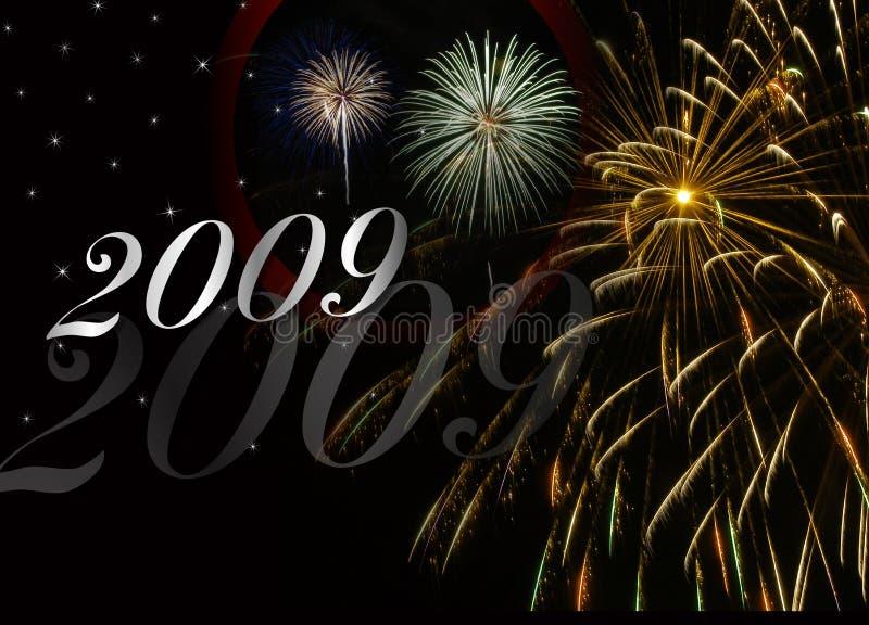 New Year 2009 Fireworks stock photo