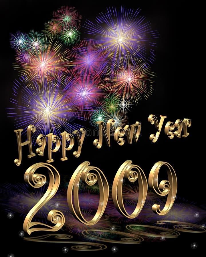 New Year 2009 Illustration 3D stock illustration