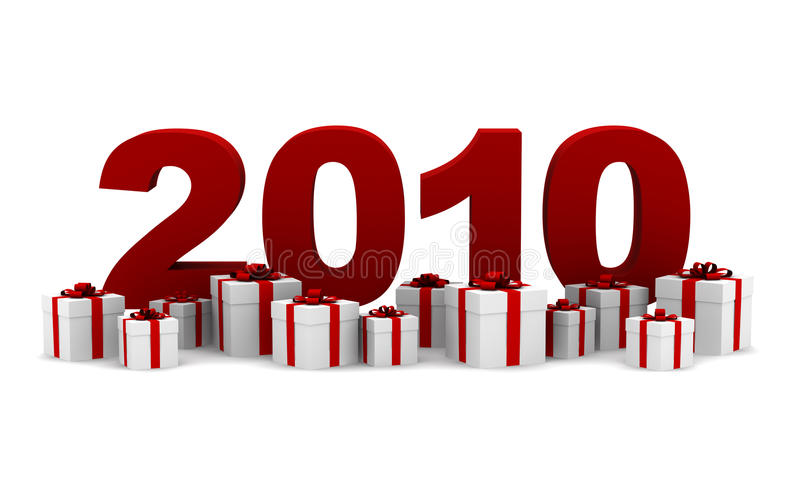 Download New Year 2010 With Gift Boxes Stock Illustration - Illustration: 11134701