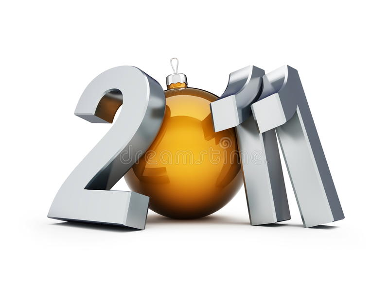 Download New year 2011 stock illustration. Image of future, ball - 15053317