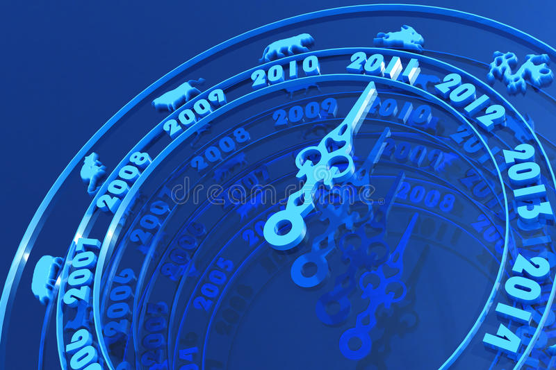 New year 2011 coming royalty free stock image