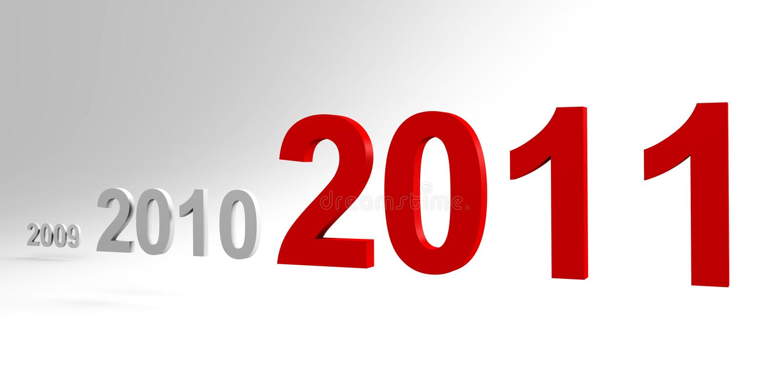 The New Year 2011 Is Coming - A 3d Image Royalty Free Stock Image