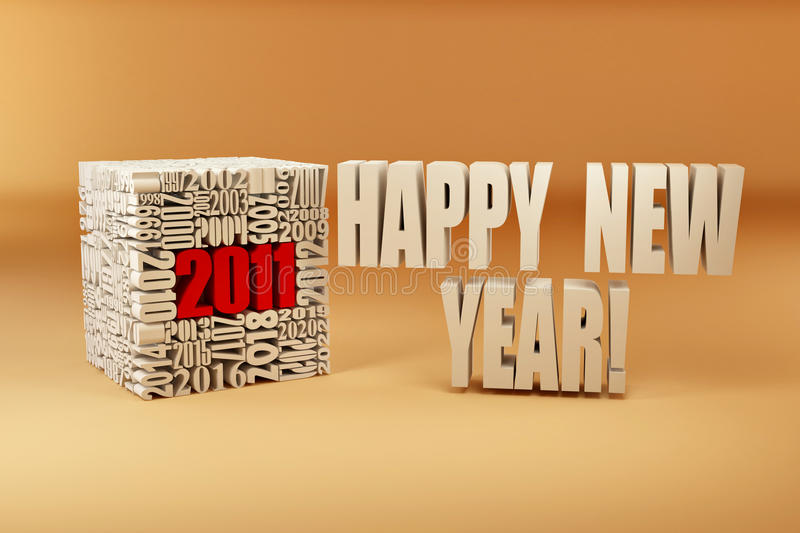 Download New Year 2011. Cube Consisting Of The Numbers Stock Illustration - Image: 16841555