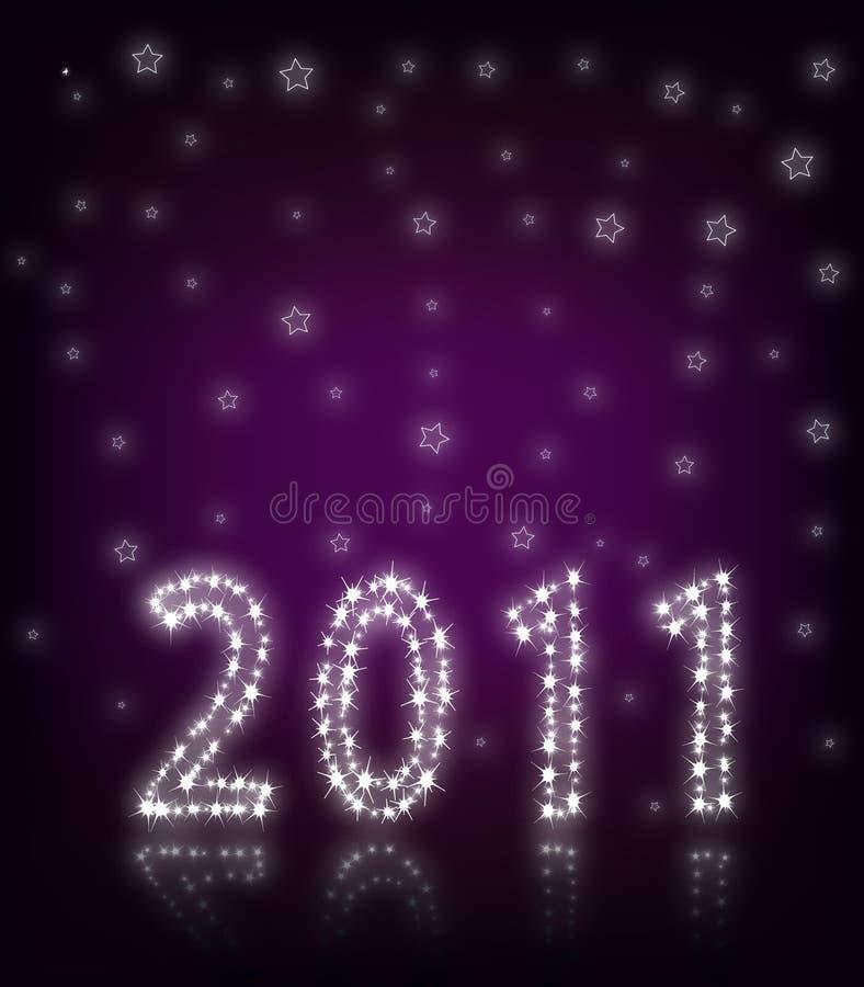 New Year 2011 Purple royalty free stock photos