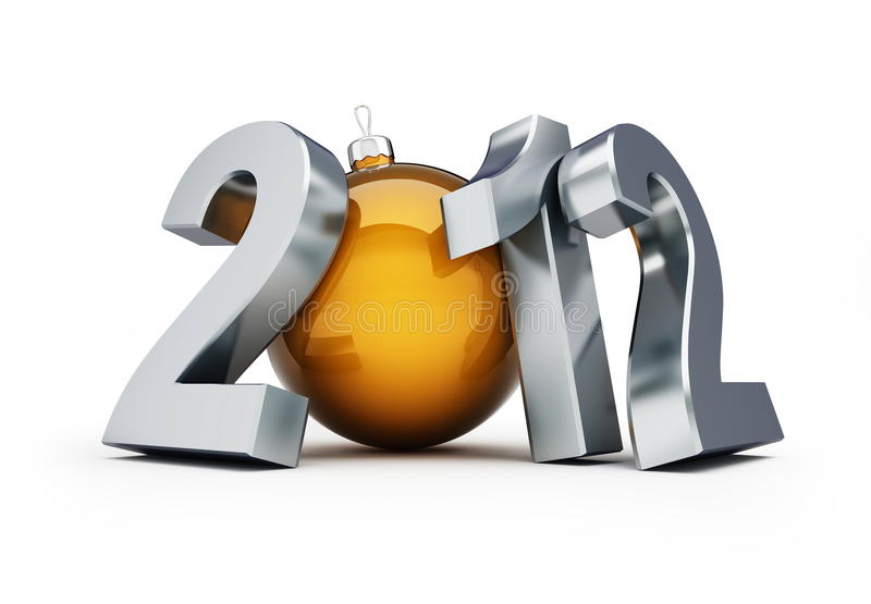 New year 2012. Happy new year 2012 on a white background vector illustration