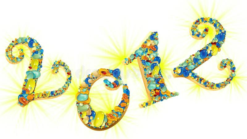 Download New year 2012 stock illustration. Image of seasonal, gold - 20949521