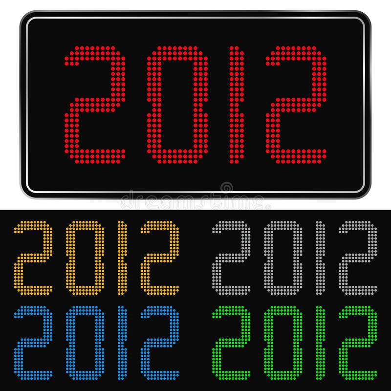 New Year 2012. Digits of new year 2012 stock illustration