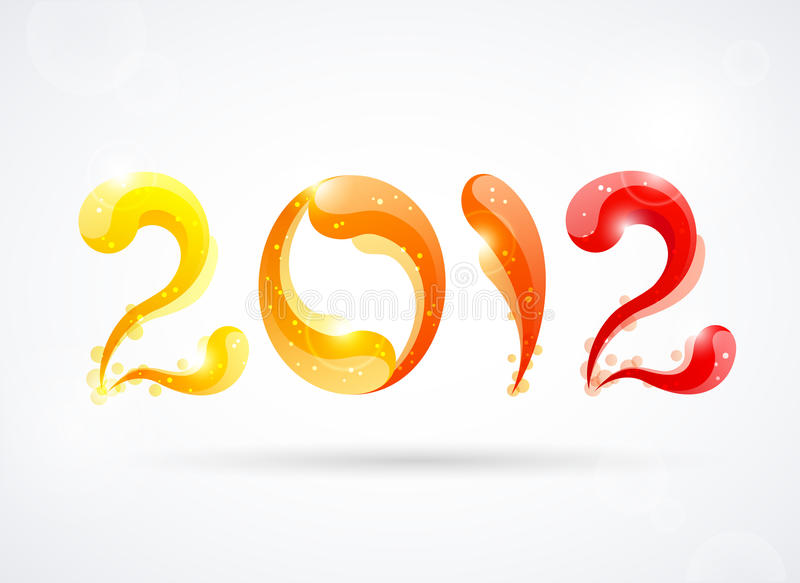 Download New year 2012 stock vector. Image of bright, orange, number - 22233561