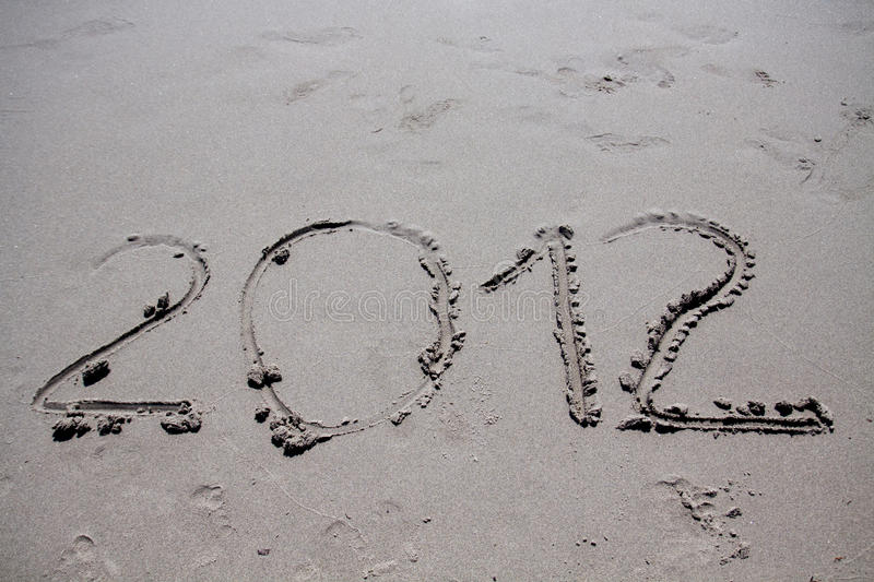 Download New year 2012 on the beach stock photo. Image of tranquil - 21073426