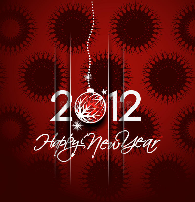 Download New year 2012 poster stock vector. Image of 2012, merry - 22424592