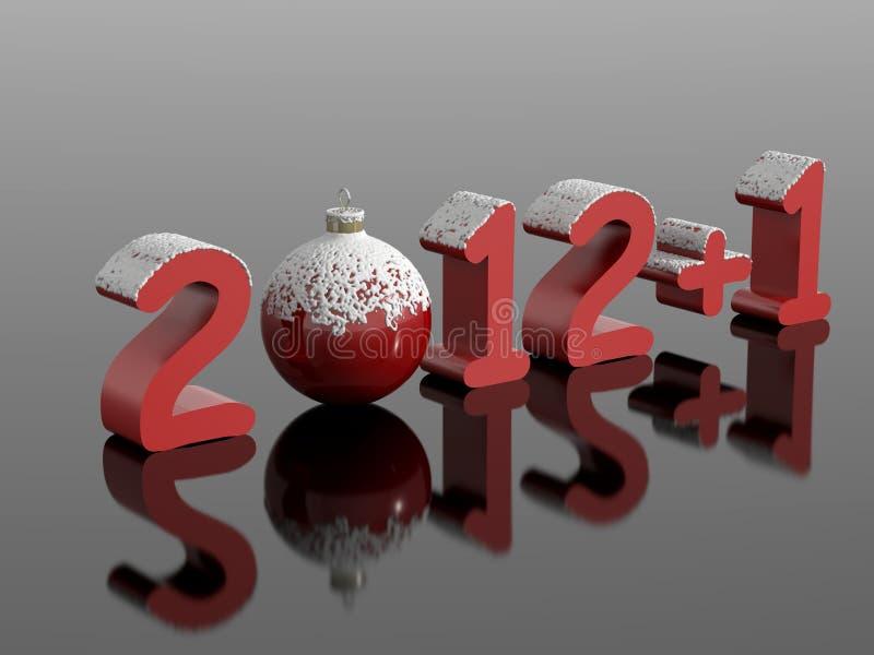 New year 2013, 2012+1 royalty free illustration