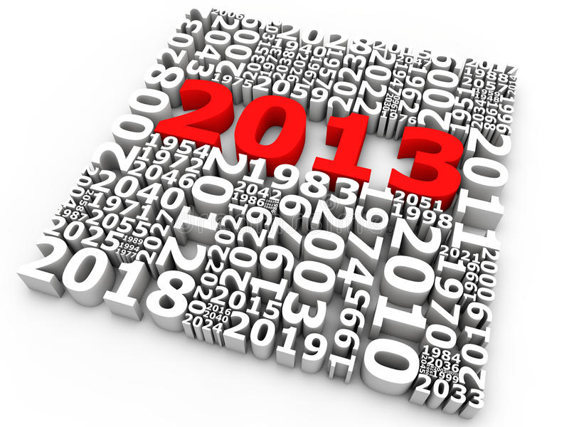 Download New Year 2013 stock illustration. Image of 2013, happy - 26628905