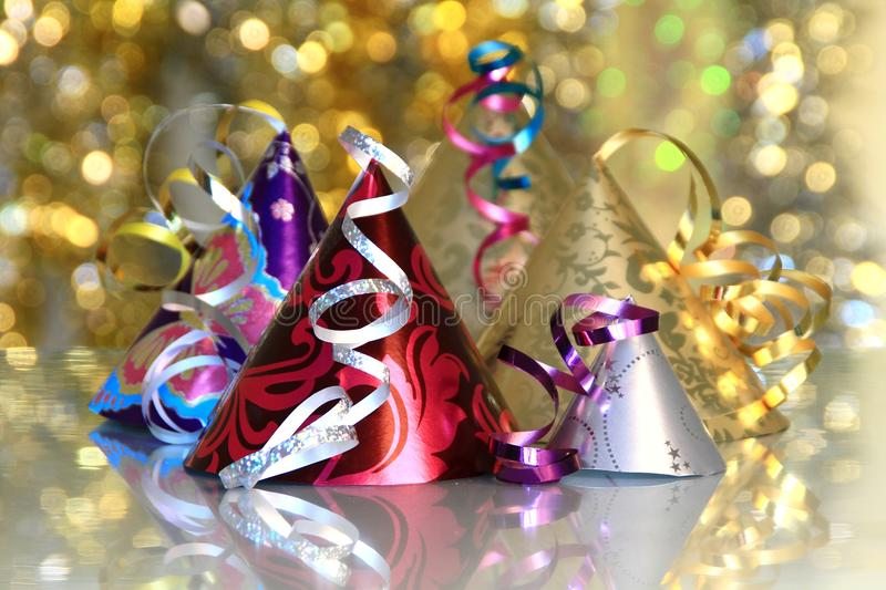 New year 2013. Image of New years eve celebration with hats in year stock photo royalty free stock image