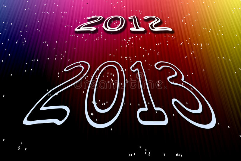 Download New year 2013 stock illustration. Image of colorful, colors - 28360026
