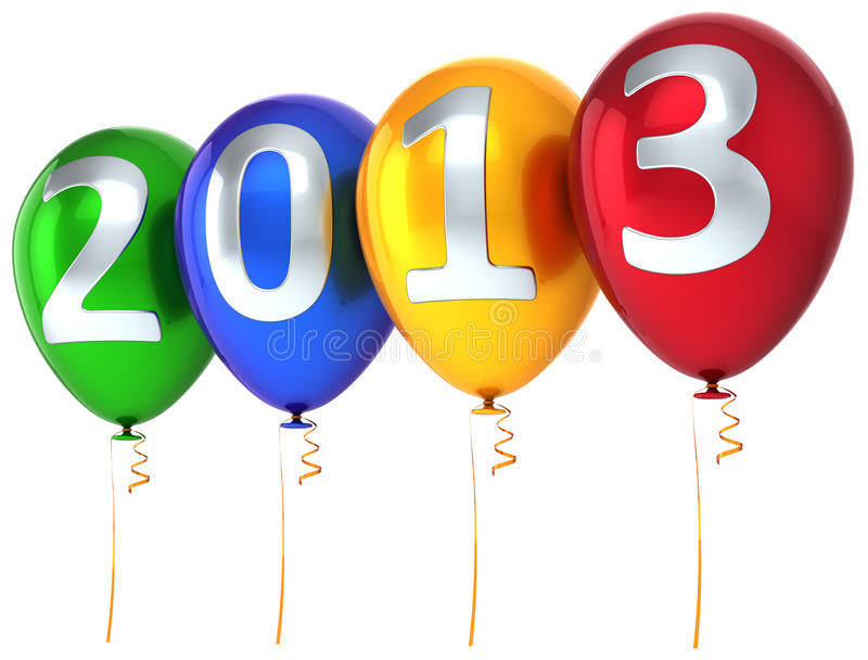 New Year 2013 balloons party celebrate decoration vector illustration