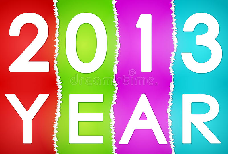 New Year 2013 Card Royalty Free Stock Images